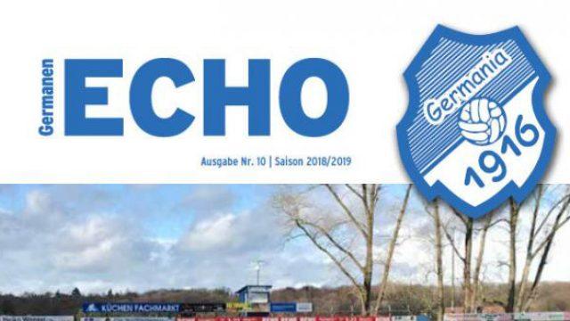 Das neugestaltete Germanen-ECHO in der 3. Ausgabe